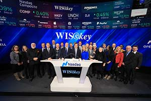 WISeKey Rings NASDAQ Opening Bell to Celebrate Listing of its ADRs